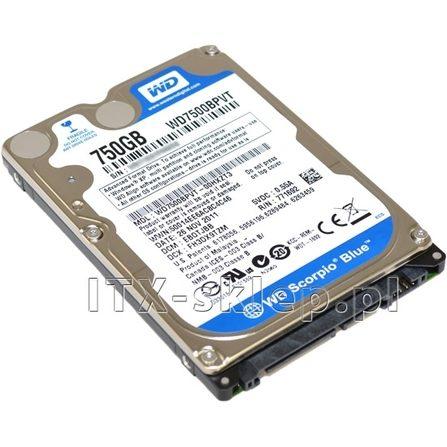 """Western Digital Scorpio Blue 750GB 2.5"""" SATA II 5400 8MB WD7500BPVT"""