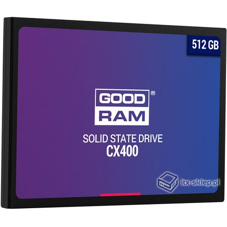 "GoodRAM SSD CX400 512GB 2,5"" 550/490 MB/s"